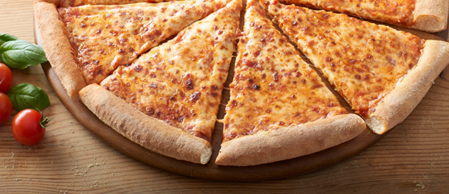Cheese and tomato pizza from Domino's