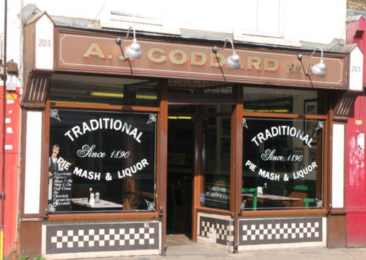 A.J Goddard pie and mash shop in Deptford