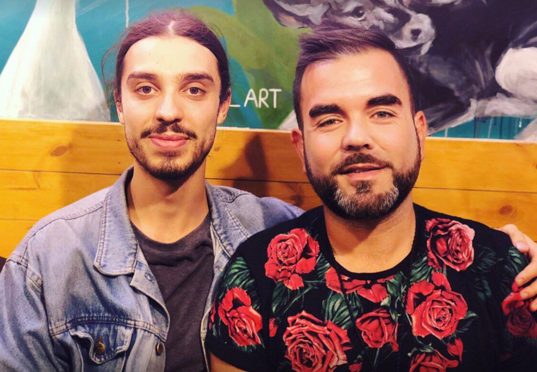 Vegan activist Earthling Ed with PBN Co-founder Robbie Lockie
