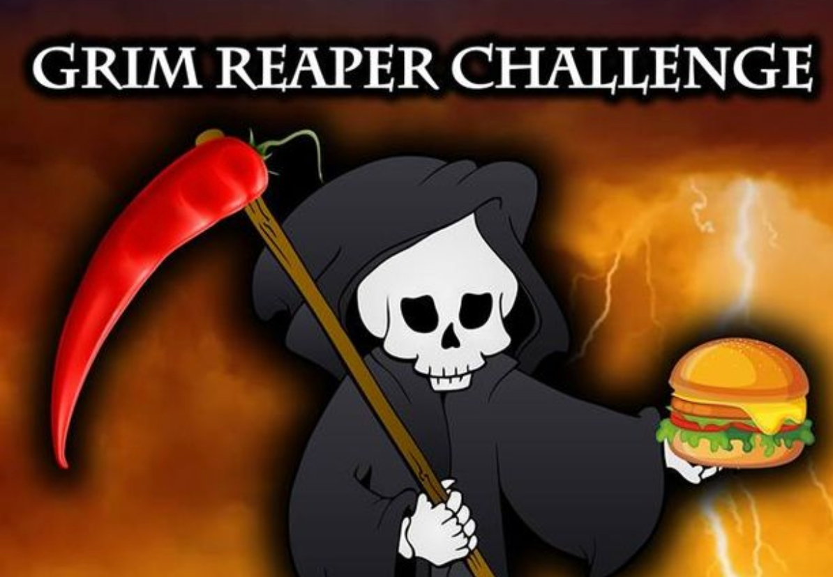 The Grm Reaper challenge to eat the hottest vegan burger ever