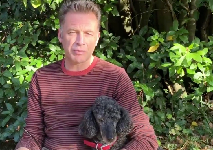 Chris Packham and his dog Scratchy