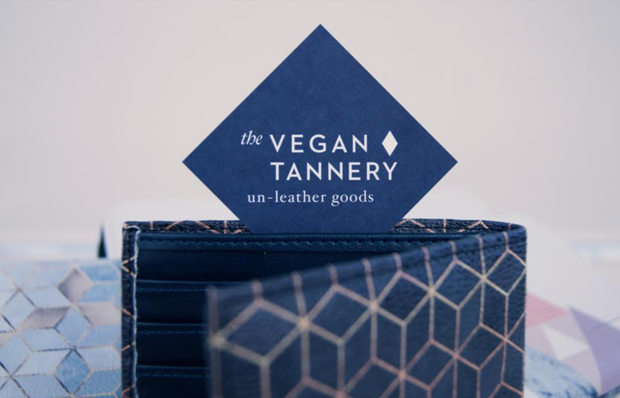 A business card for the Vegan Tannery