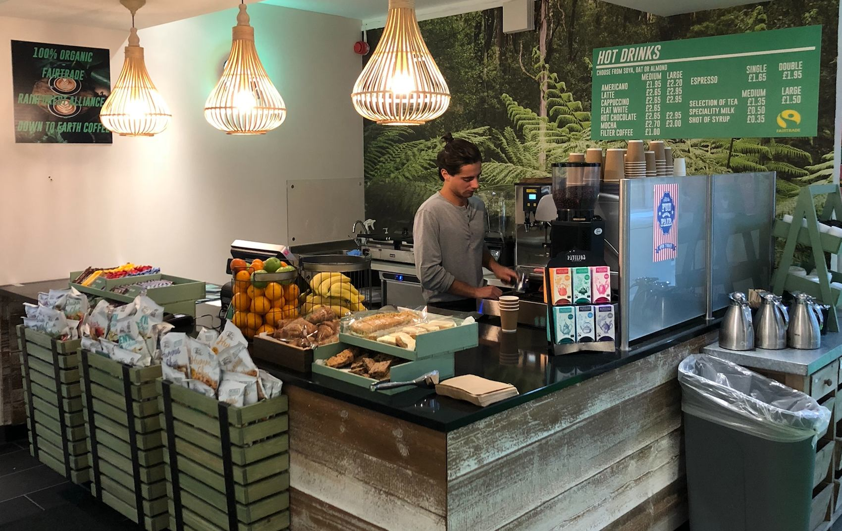 Vegan cafe at the Royal College of Art