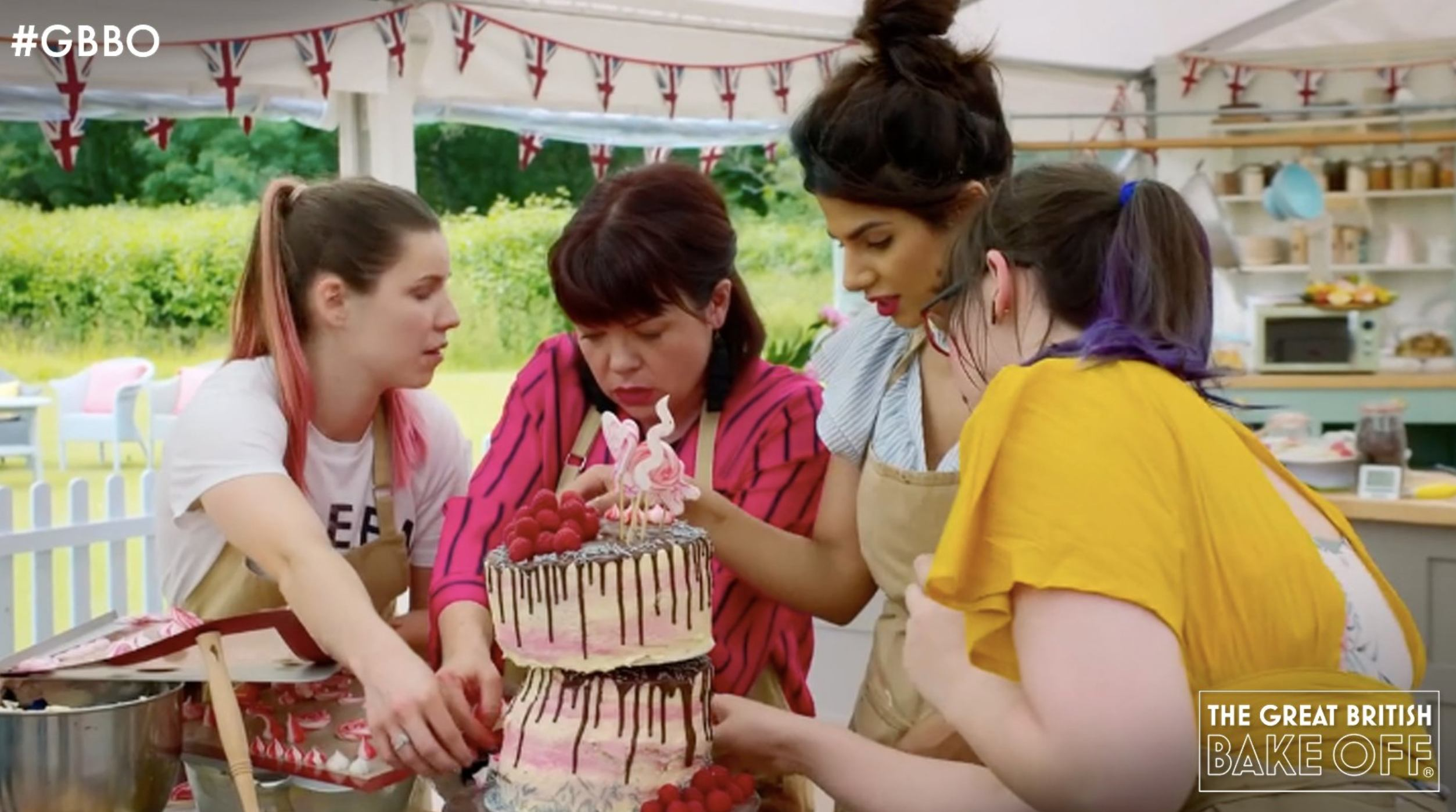 Contestants of GBBO during vegan week