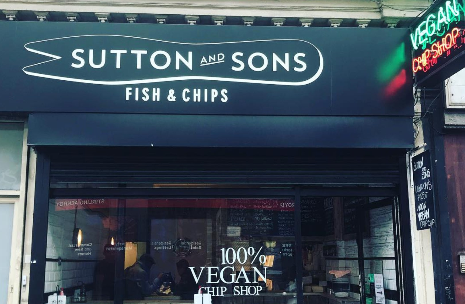 Sutton and Sons vegan outlet in Hackney
