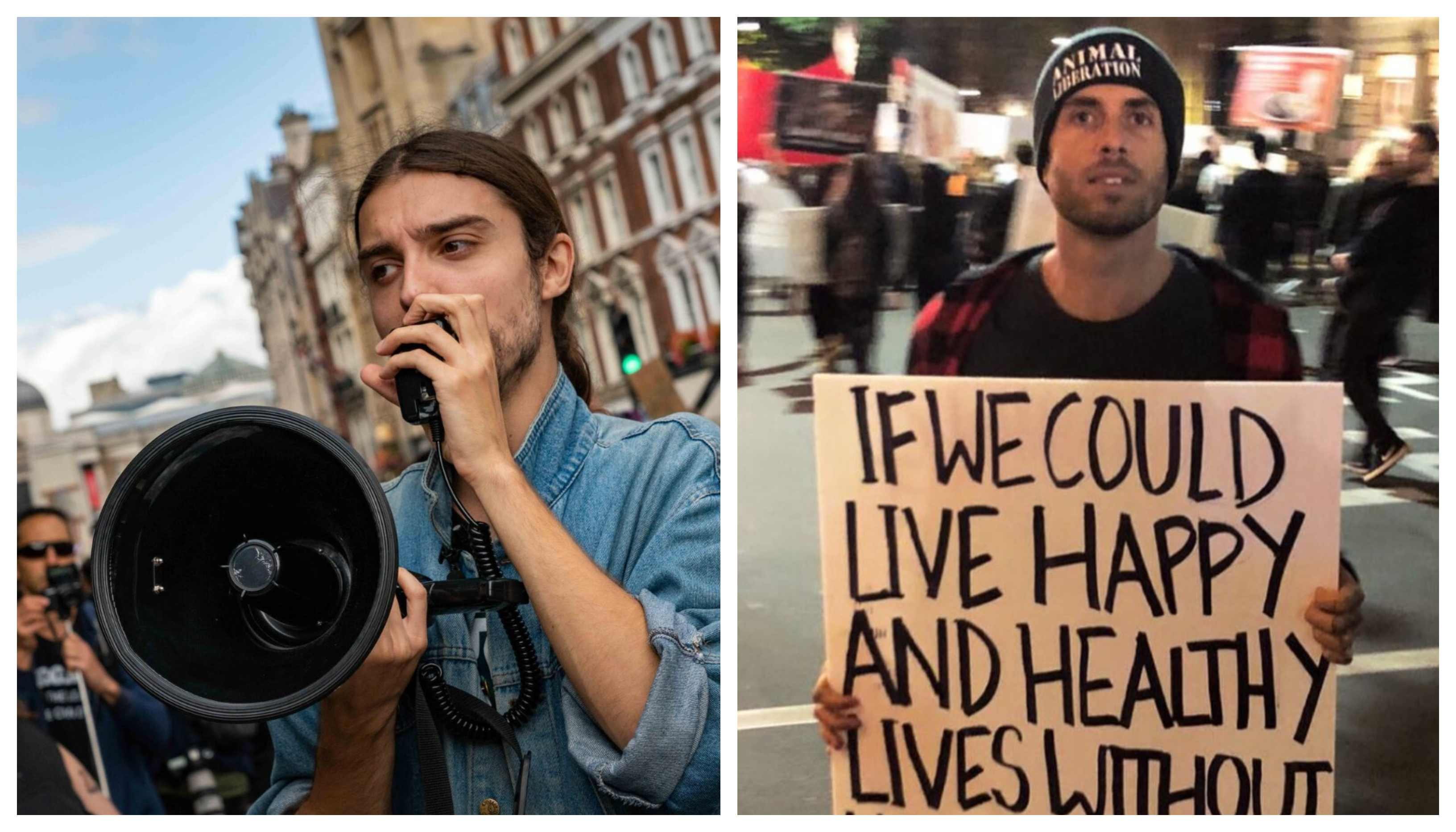 Vegan activists Earthling Ed and James Aspey