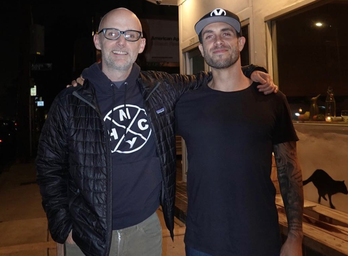 Vegans Moby and James Aspey