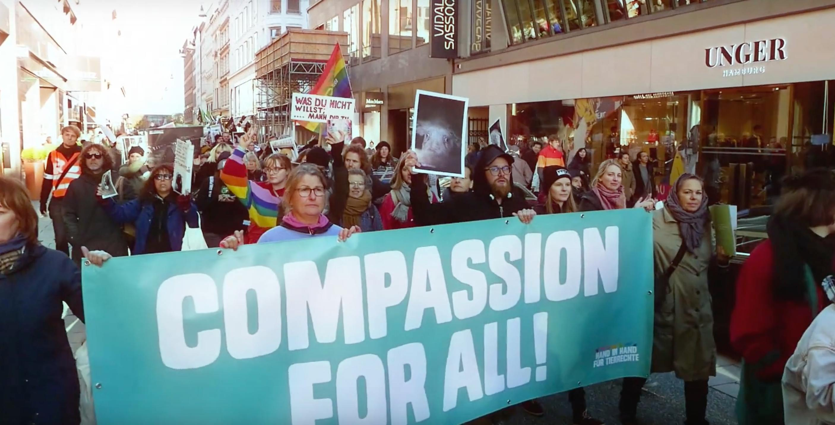 Vegan activists in Germany march for animal rights