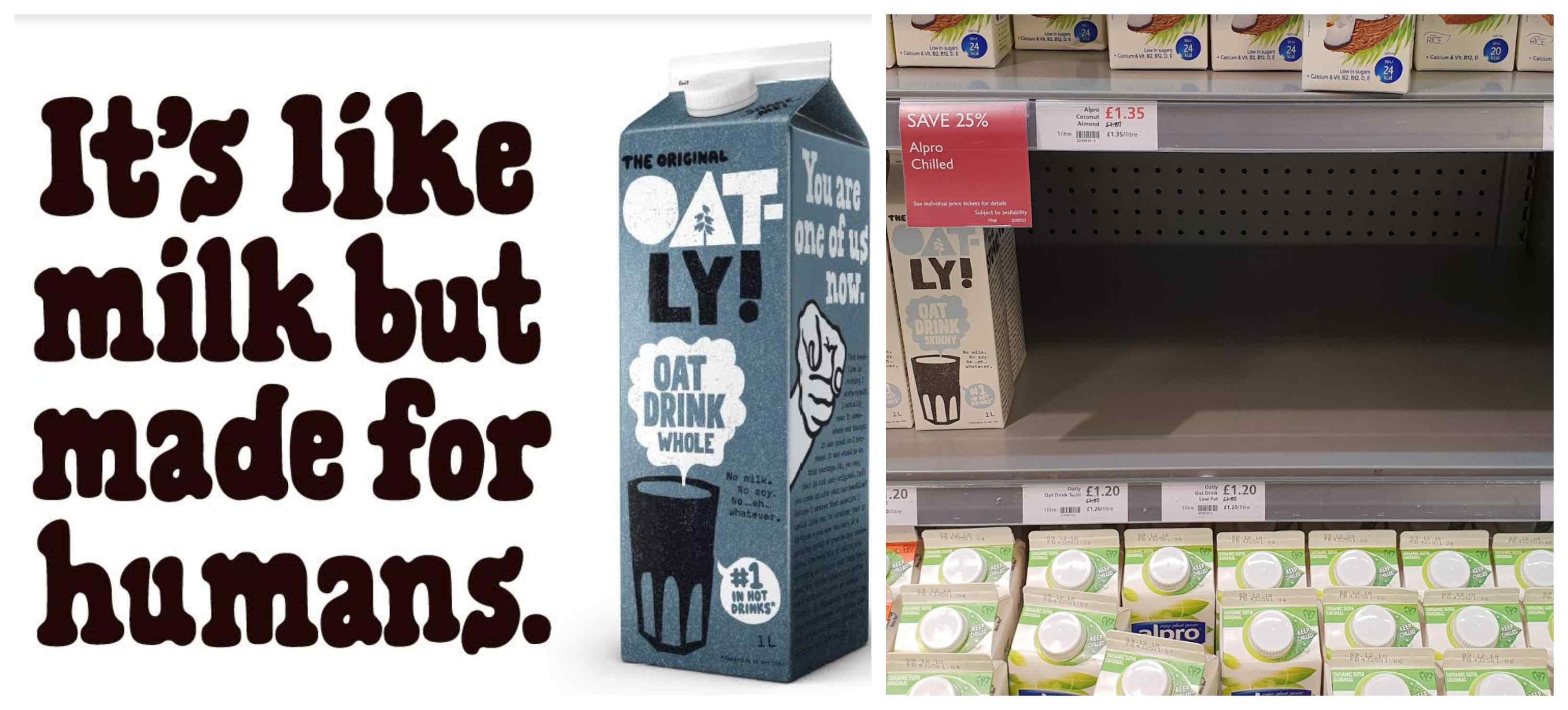 Oatly's popular campaign and empty shelves