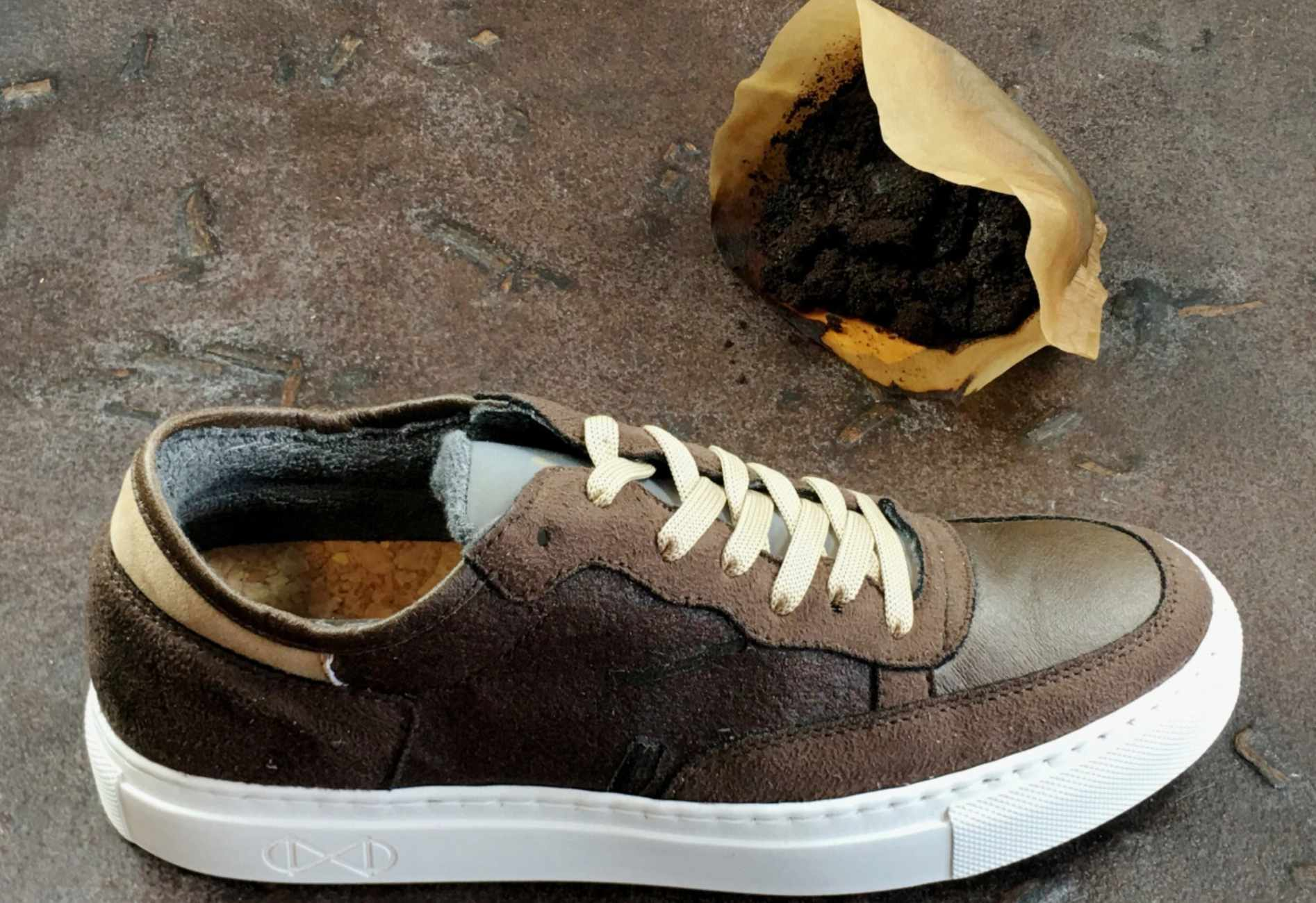 Vegan sneakers made from coffee leather
