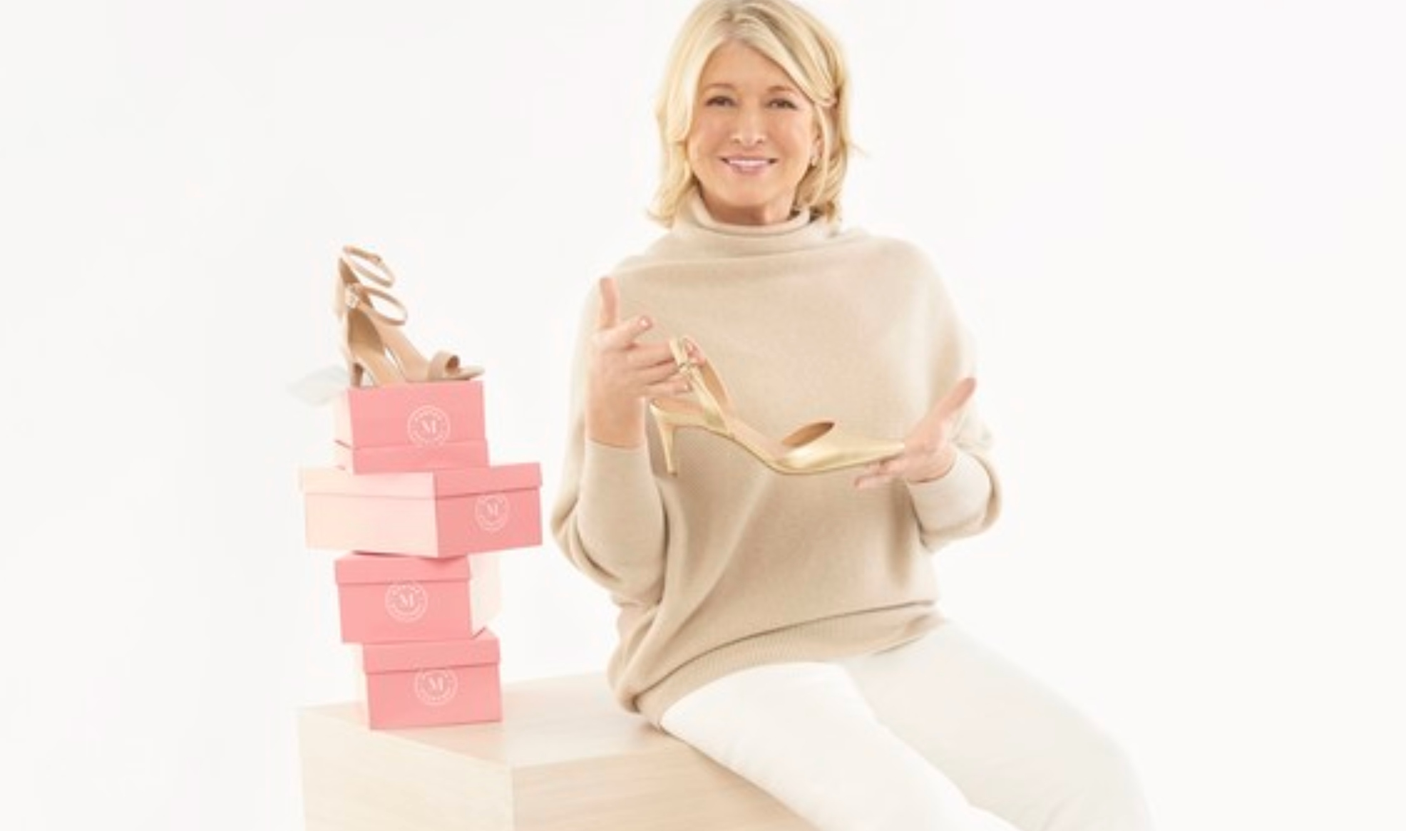 Martha Stewart with her vegan shoe line