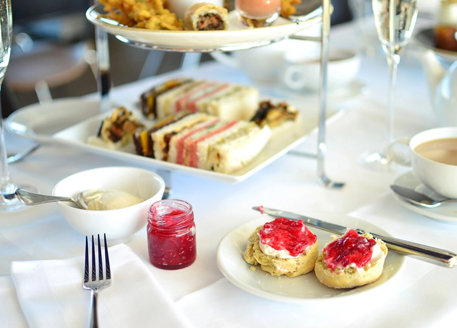 Vegan afternoon tea at the OXO Tower restaurant