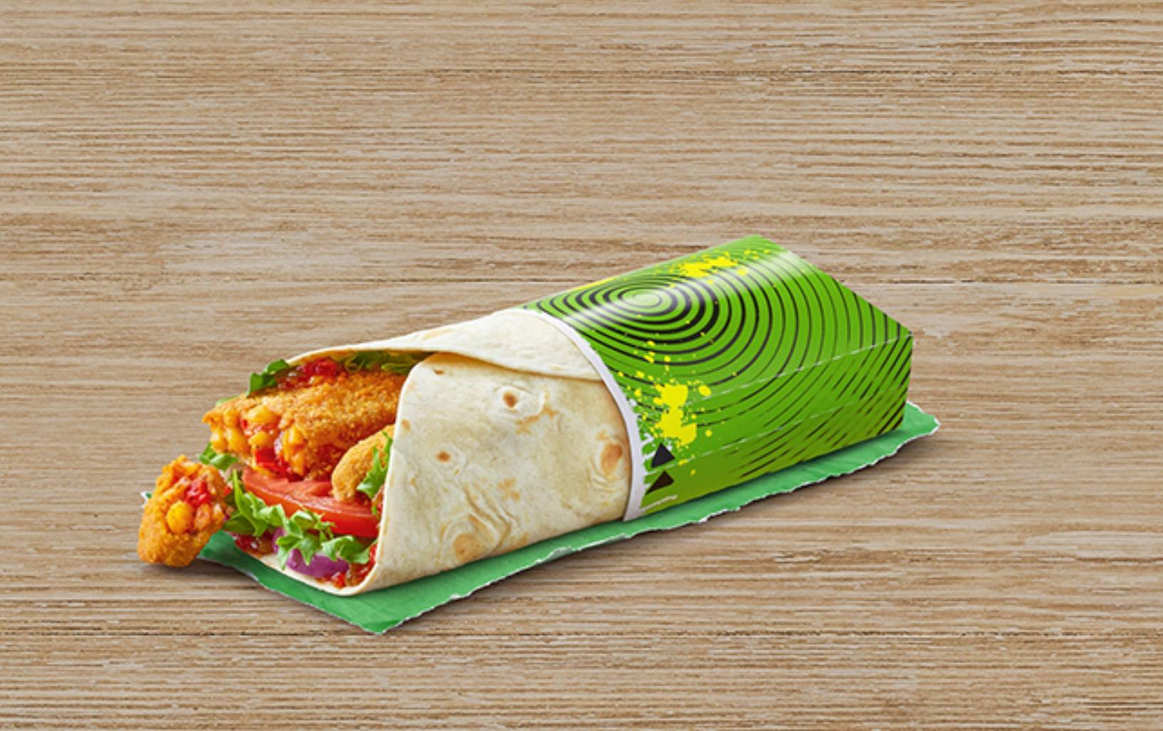 McDonald's vegan wrap