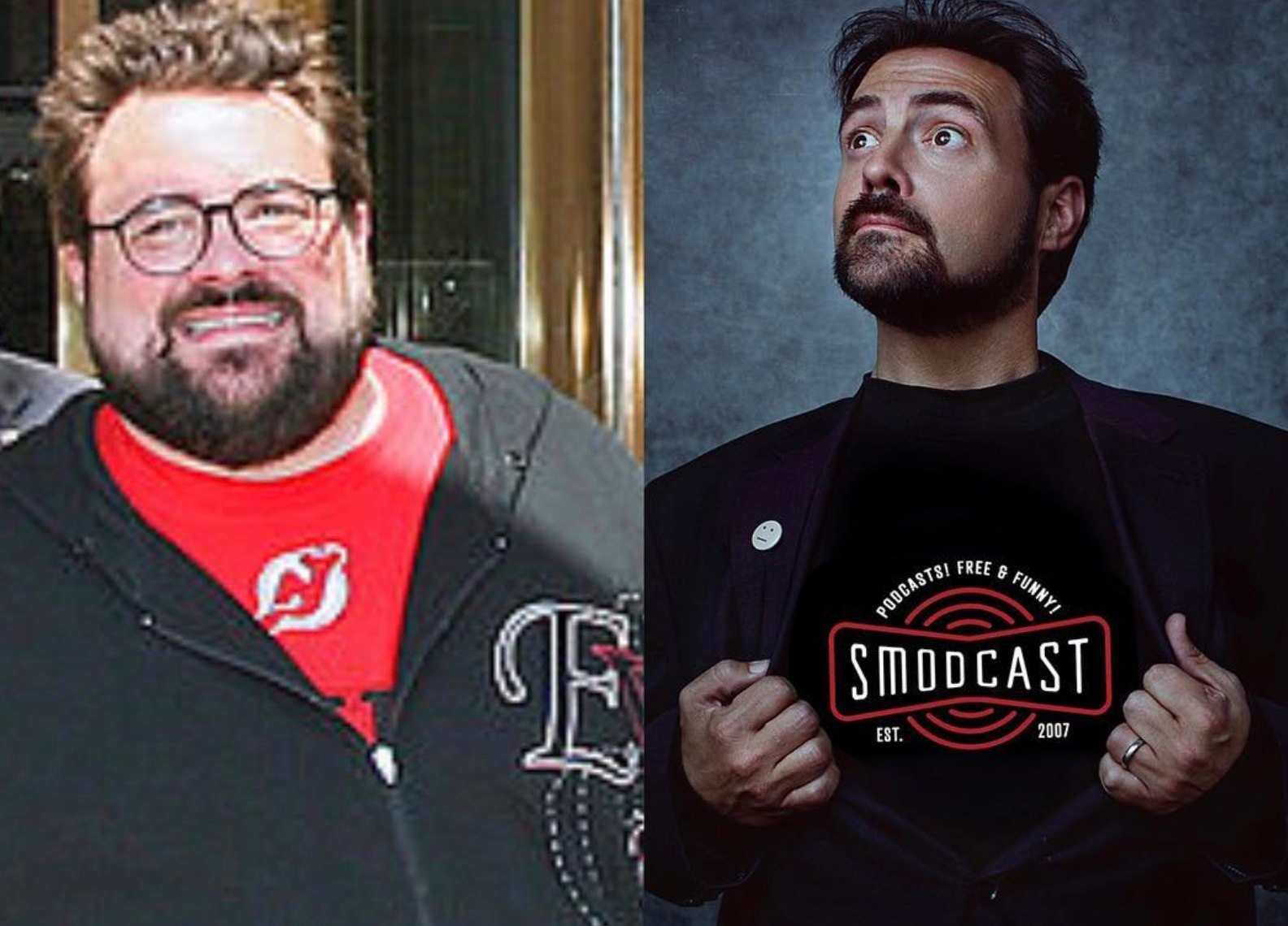 Kevin Smith Shows Off Vegan Transformation In 10-Year-Challenge