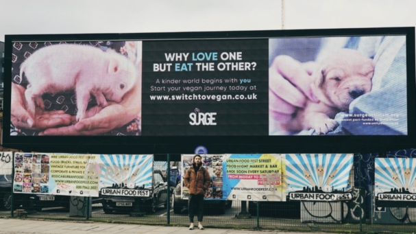 Surge Releases Its First Vegan Advert Campaign In London