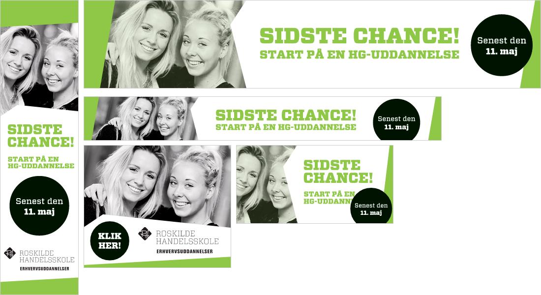 bannerkampagne for Roskilde Handelsskole