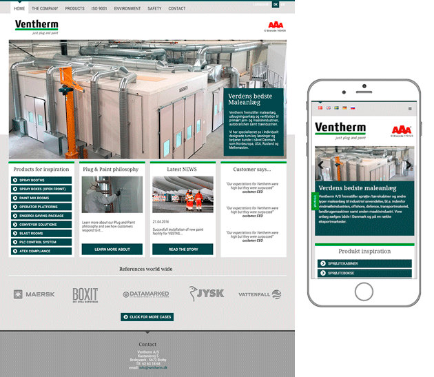 Ventherm webdesign