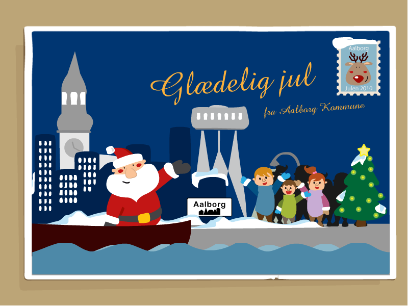 animeret Julekort Aalborg kommune