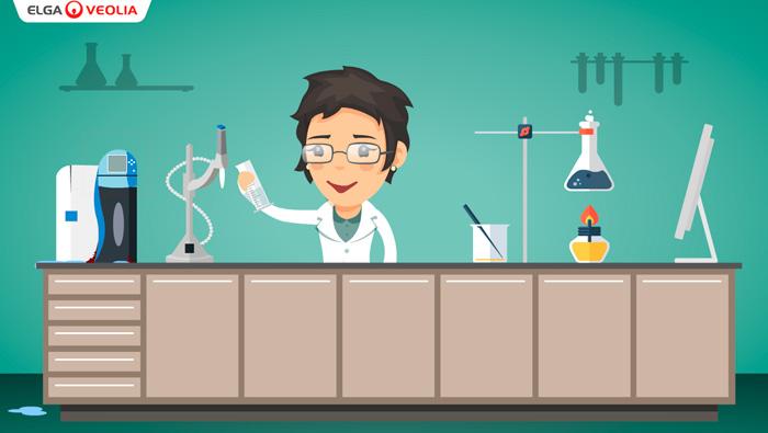 ELGA film omkring laboratorie vand