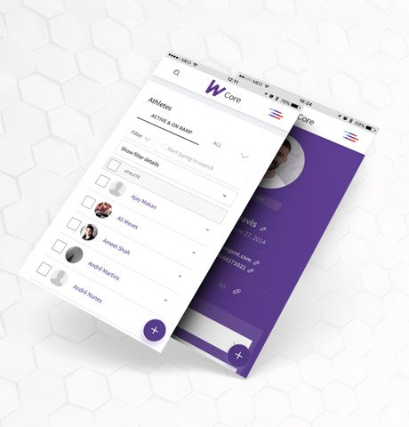 Wodify Core Mobile Screens