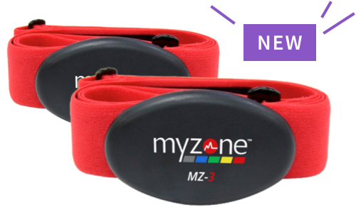 Two MYZONE® MZ-3 exercise belts