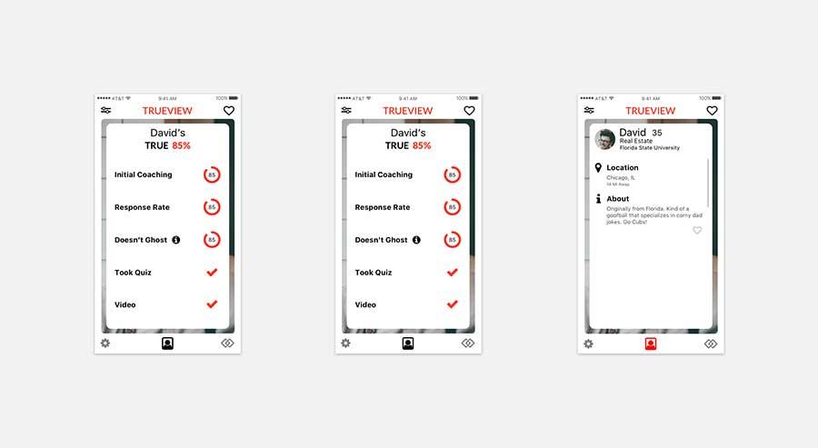 TrueView - info screens