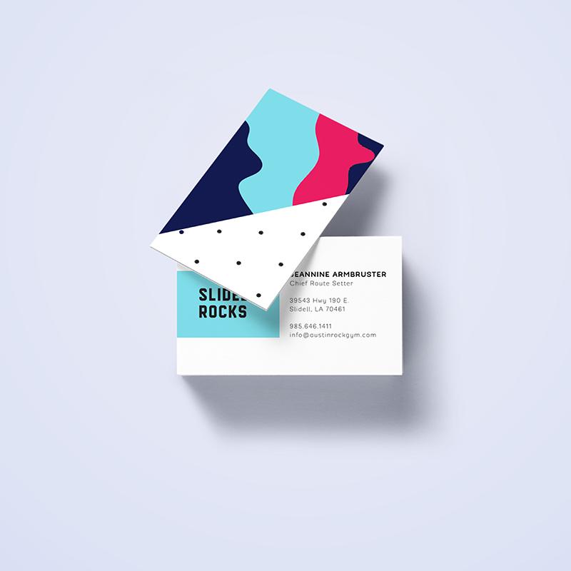 Rock Gym Business Card Design