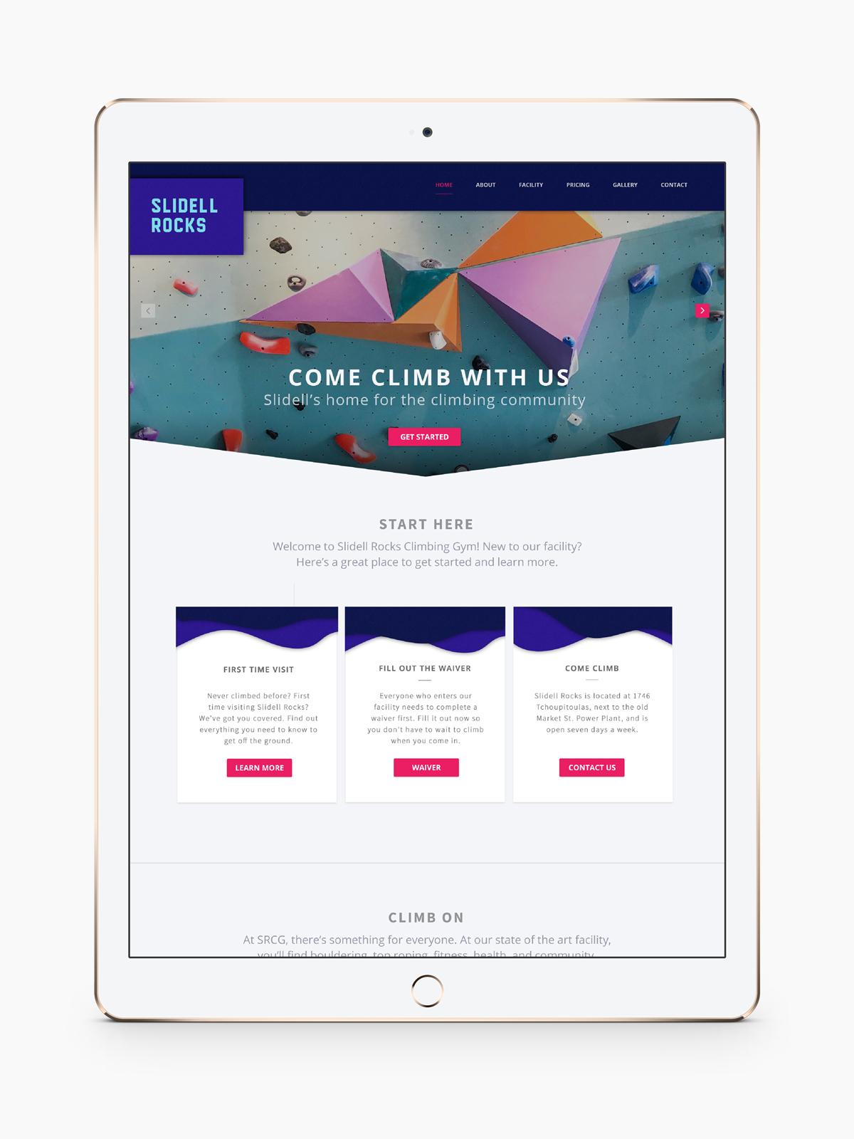 Rock Gym Website Design