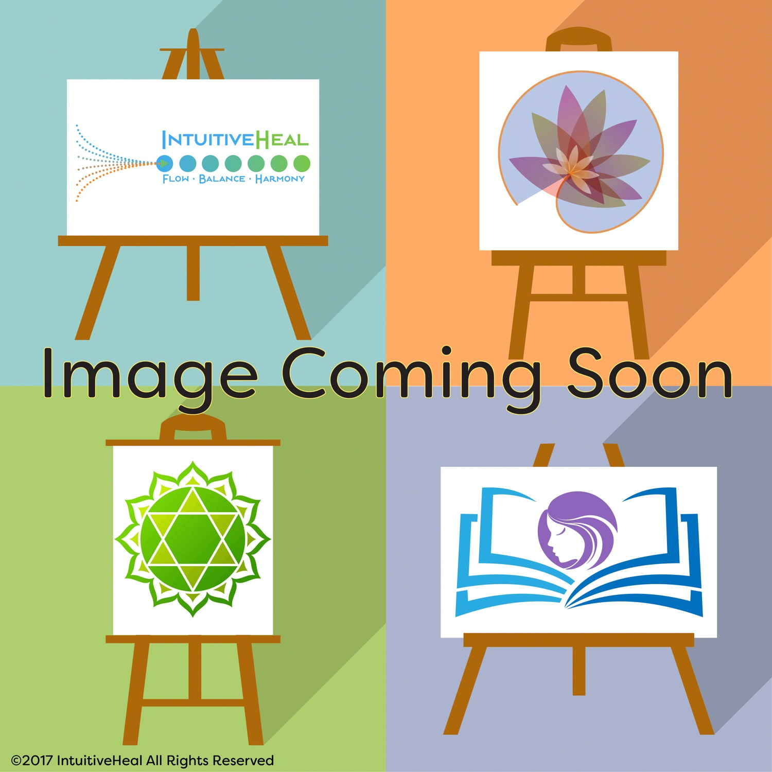 """Image of art on easels and text saying """"Image Coming Soon"""""""