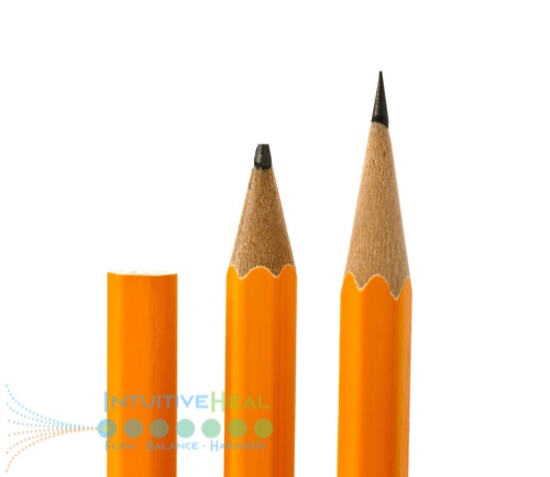 Photo of an unsharpened, dull, and sharp pencil