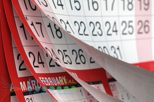 Image of flipping pages on a calendar