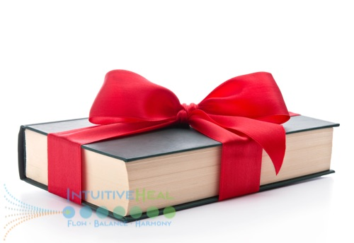Photo of book tied with a red bow