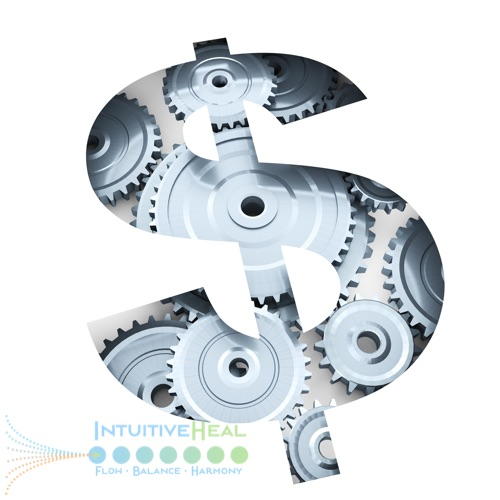 Image of dollar sign with gears inside