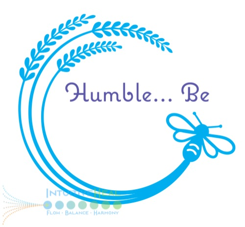 """Image of wheat with bumblebee """"Humble-be"""""""