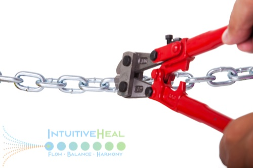 Photo of heavy-duty pliers cutting through linked chain