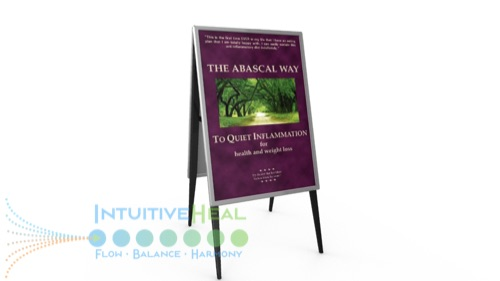Image of The Abascal Way book cover on an easel