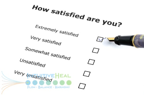 Photo of a satisfaction survey question