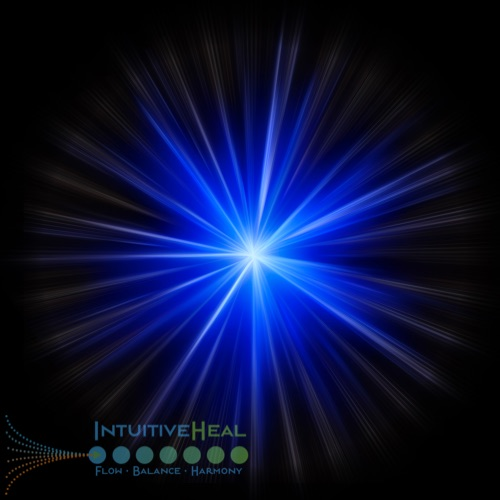 Image of bright point emanating blue-white light