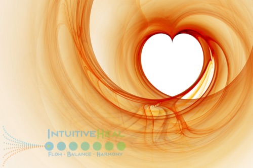 Image of stylized heart outlined in swirling orange and red