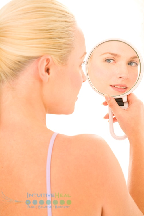 Photo of a woman in a mirror