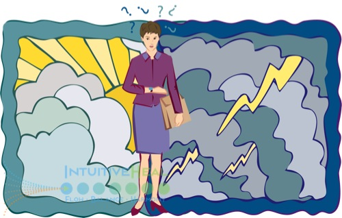 Image of cartoon woman with briefcase