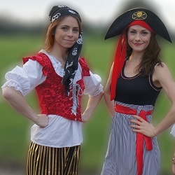 Two pirate entertainers posing