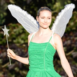 Tinkerbell Fairy posing outdoors