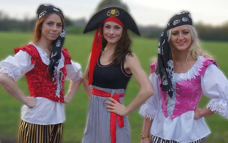Three pirates posing