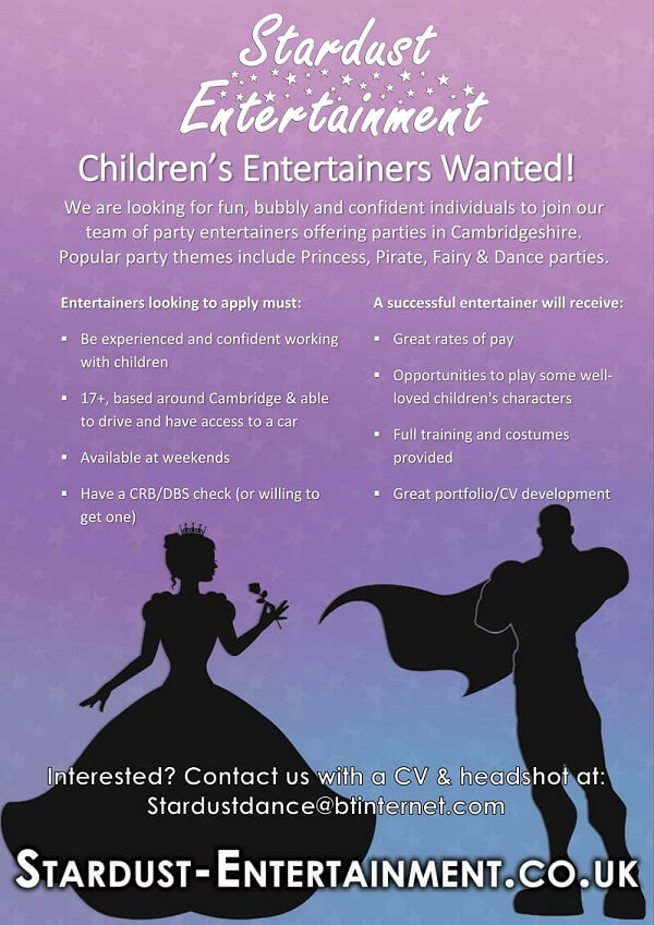 Princess entertainer job advert
