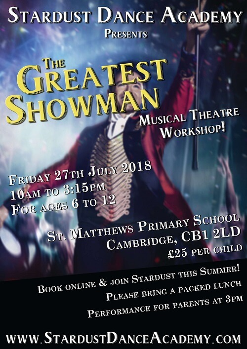 Greatest Showman Musical theatre workshop