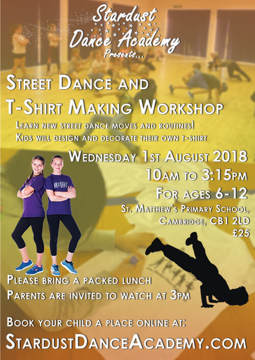 Street Dance & T-shirt making workshop