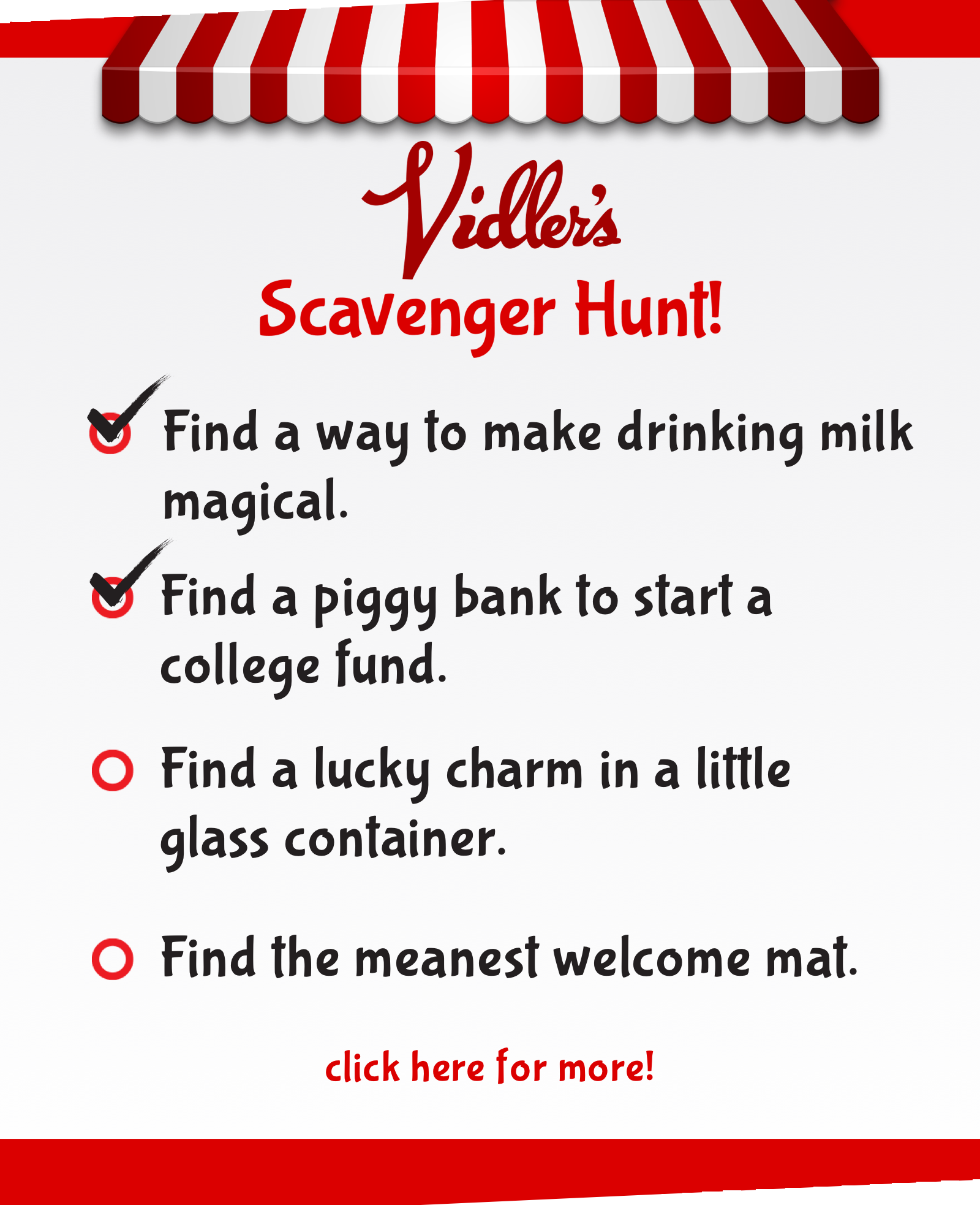 scavenger hunt list