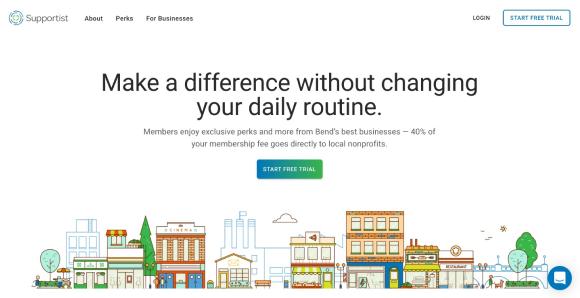 supportist website screenshot