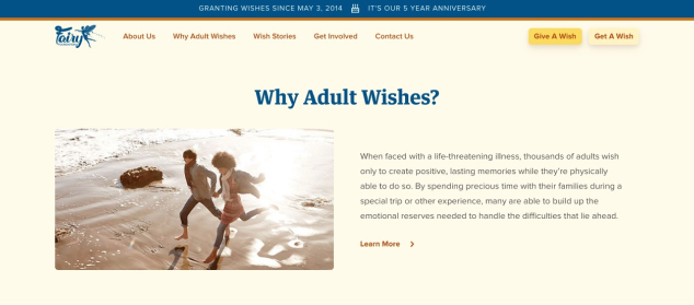 fairy foundation website screenshot